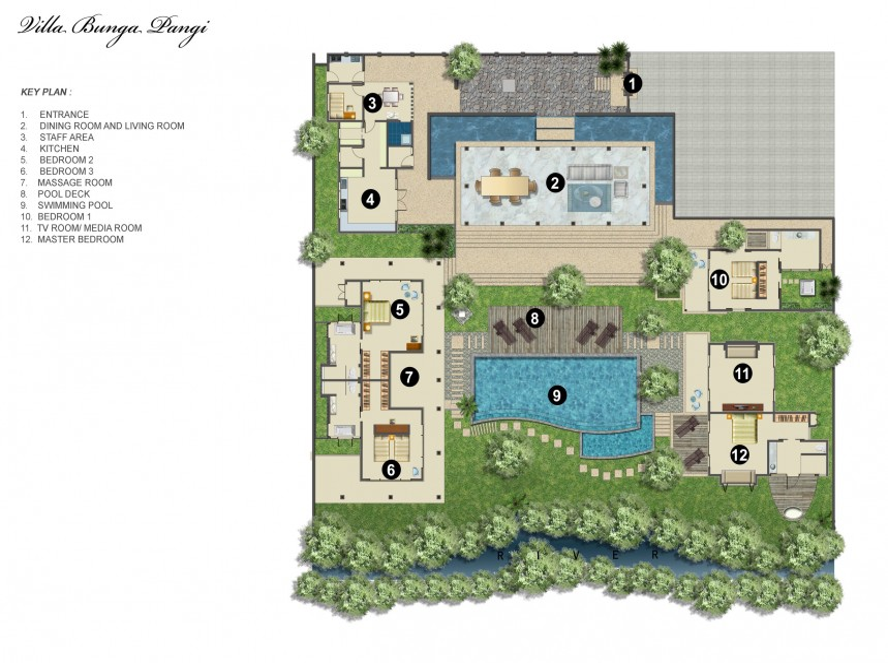 Villa Mieten Bunga Pangi In Canggu Von Bali Luxury Villas Impressive Bali 4 Bedroom Villa Plans